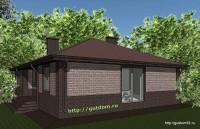 Проект одноэтажного дома площадью 132 м2, эскиз 1