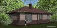 Проект одноэтажного дома площадью 132 м2 эскиз 3