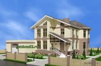 двухэтажный дом, эскиз 1