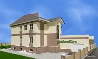двухэтажный дом, эскиз 2