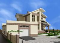 двухэтажный дом, эскиз 3