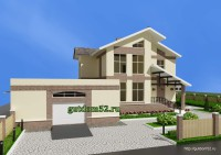 двухэтажный дом, эскиз 4