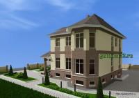 двухэтажный дом, эскиз 5