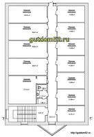 проект магазина, планировка офисов, 3 этаж