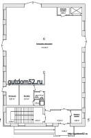 проект магазина, план склада, 1 этаж