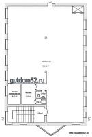 проект магазина, план торгового зала, 2 этаж