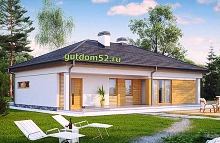 проект одноэтажного дома 147 м2