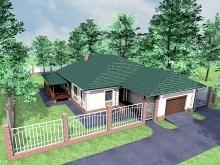 проект одноэтажного дома 182 м2, 220