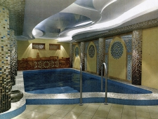 интерьер бассейна с хамам, дизайн проект Ладо23