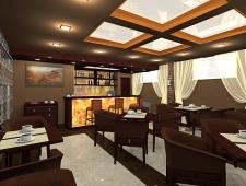 интерьер кафе, дизайн проект Ладо22