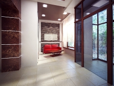 интерьер холла коттеджа, дизайн проект Ладо21