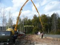 бетонирование монолитной плиты (бетононасос и миксер) - фото 10
