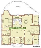 планировка дома, 1 этаж