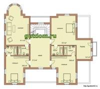 планировка дома, 2 этаж