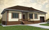 проект дома 150 кв.м Ви1, эскиз 1