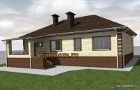 проект дома 150 кв.м Ви1, эскиз 2