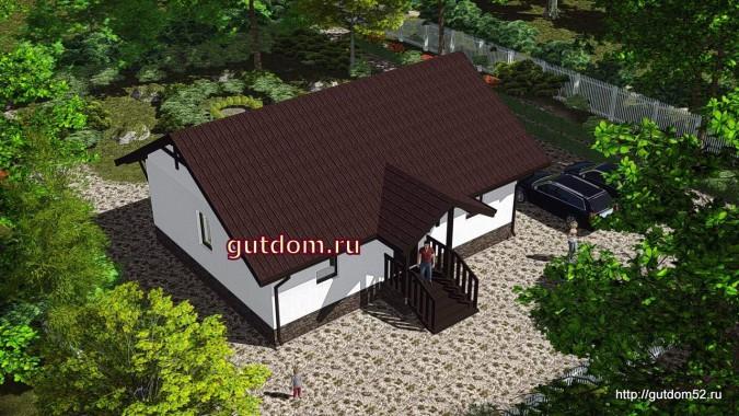 проект дома со свободной планировкой 79 м2, 1