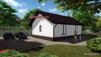 проект дома со свободной планировкой 79 м2, 3