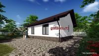проект дома со свободной планировкой 79 м2, 4