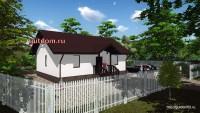 проект дома со свободной планировкой 79 м2, 5