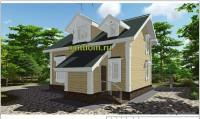проект дома из бруса, эскиз 2