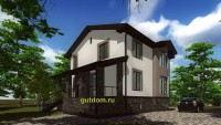 проект дома 260 м2, эскиз 3