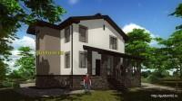 проект дома 260 м2, эскиз 4