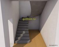 проект лестницы, эскиз 2